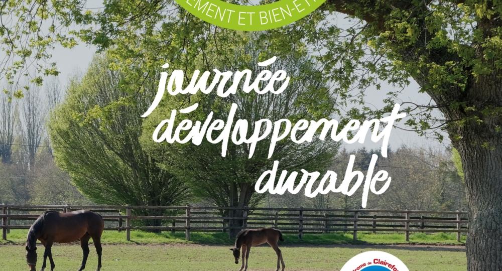 Journée Développement Durable à l'hippodrome de Clairefontaine