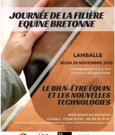 Présentation d'EquuRES lors de la Journée dédiée au « Bien-être équin et nouvelles technologies » le jeudi 28 novembre 2019 à Lamballe, en Bretagne