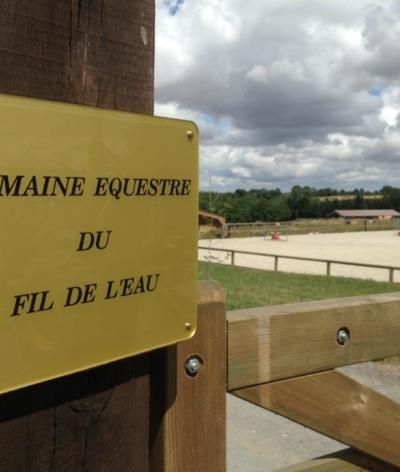 Le domaine équestre du fil de l'eau, près de Caen, labellisé EquuRES !