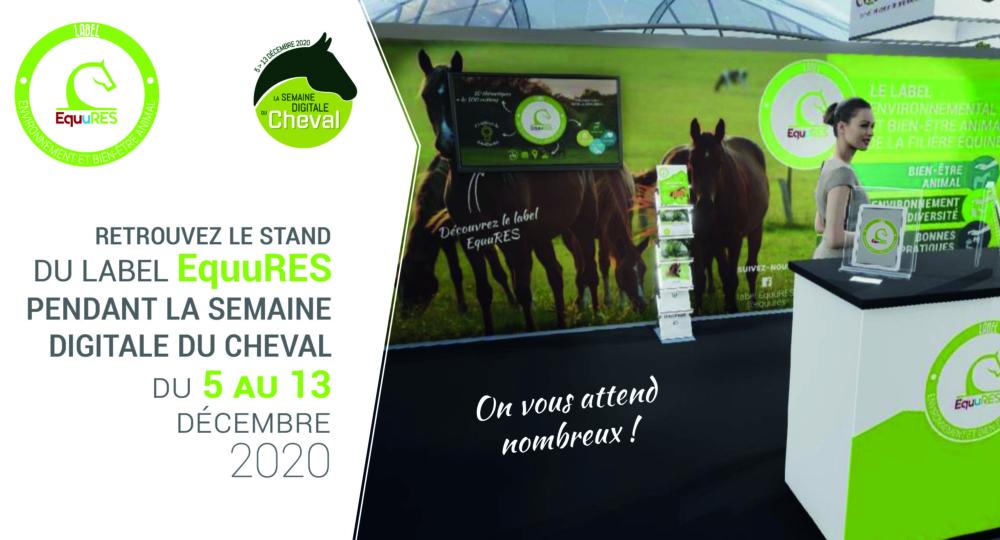 Le label EquuRES sera présent à la Semaine Digitale du Cheval !