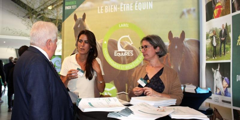 Le label EquuRES était présent au congrès de la FNCH à l'Hippodrome de Lyon